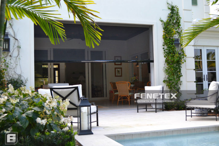 Retractable hurricane screens